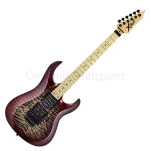 Cort elektromos gitár, EMG HZ PU, QM, vörös burst