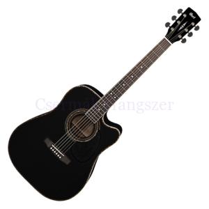 Cort akusztikus gitár elektronikával, fekete