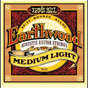 Akusztikus gitárhúrkészlet Ernie Ball médium Light 12-54