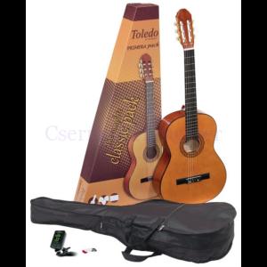 Klasszikus gitár Toledo Primera készlet 4/4 natúr