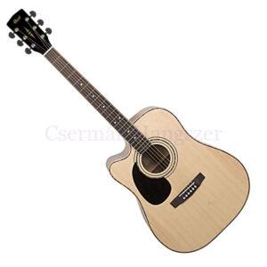 Cort akusztikus gitár elektronikával, balkezes, matt natúr