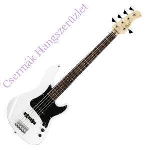 Cort el.basszusgitár, 5 húros, JJ, fehér