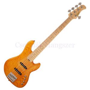 Cort el.basszusgitár, 5 húros, JJ, aktív, borostyán