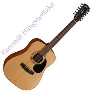 Cort akusztikus gitár, 12 húros, matt natúr