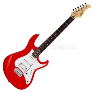 Cort el.gitár, hársfa test, Bluebucker PU, skarlátvörös