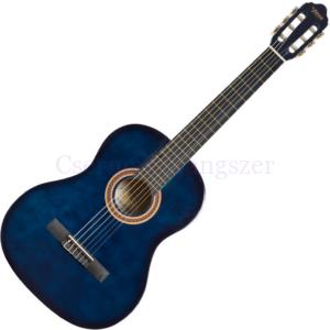 Klasszikus gitár, 4/4 Valencia kék sunburst