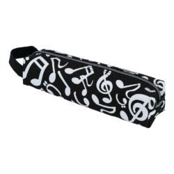 Tolltartó (neszeszer) fekete, fehér violinkulcs és kotta mintával