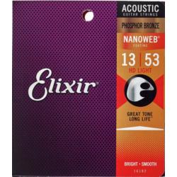 Akusztikus gitár húrkészlet Elixir13-53 HD Light NanoWeb Phosphor Bronze