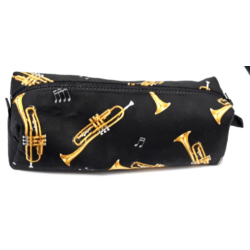 Tolltartó, fekete alapon, trombita mintával