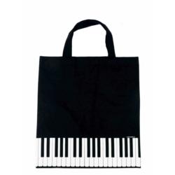 Táska, zongorabillentyűs, fekete