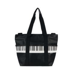 """Válltáska """"Pro musica"""" zongorabillentyű mintás, fekete"""