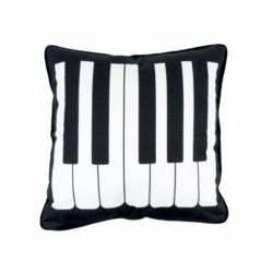 Párnahuzat, zongorabillentyű mintás