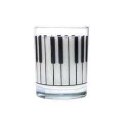 Üvegpohár, zongora mintás