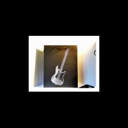 Ajándék táska, gitáros, 33X28, 5X14 cm.