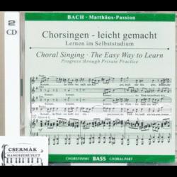 BACH, MATTHAUS PASSION BASS CD