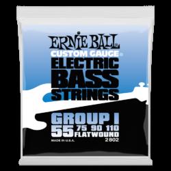 Basszusgitár húrkészlet Ernie Ball flatwound group i 55-110