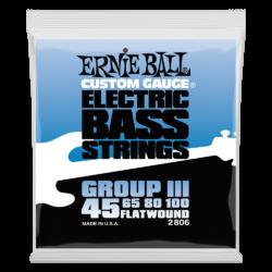 Basszusgitár húrkészlet Ernie Ball flatwound bass group III 45-100