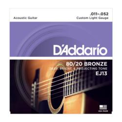 Akusztikus gitárhúrkészlet D'addario 11-52