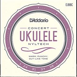 Ukulele húrkészlet koncert D'addario Nyltech