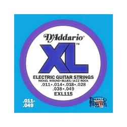 Elektromos gitárhúrkészlet D'addario 11-49