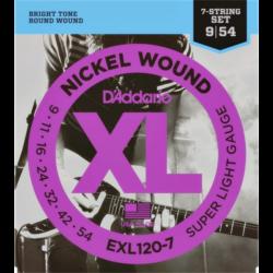 Elektromos gitárhúrkészlet D'Addario EXL120 7 húr. 009-054