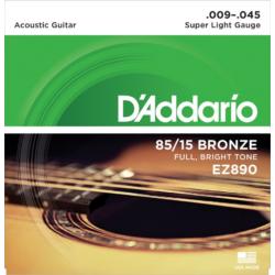 Akusztikus gitárhúrkészlet D'Addario EZ890 9-45