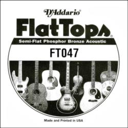 Akusztikus gitárhúr D'Addario  FlatTops SemiFlat FT047