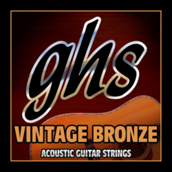 Akusztikus gitárhúrkészlet GHS Vintage bronz 10-46