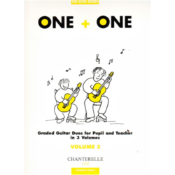 ONE+ONE GRADED GUITAR DUOS 3. FOR PUPIL AND TEACHER IN 3 VOLUMES
