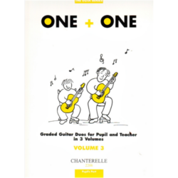 ONE+ONE GRADED GUITAR DUOS 3. FOR PUPIL UND TEACHER IN 3 VOLUMES