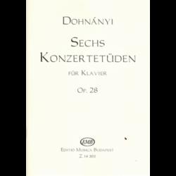 SECHS KONZERTETÜDEN FÜR KLAVIER OP. 28.
