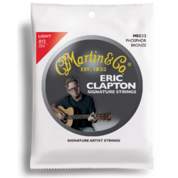 Akusztikus gitárhúrkészlet Martin E. Clapton 12-54