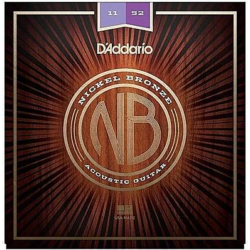 Akusztikus gitárhúrkészlet D'addario Nickel Bronze 11-52