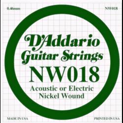 Elektromos gitárhúr D'Addario darab NW018