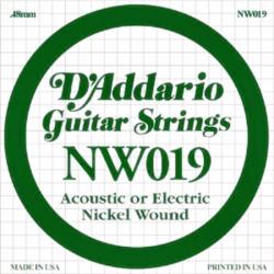 Elektromos gitárhúr D'Addario darab NW019