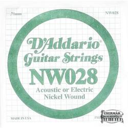 Elektromos gitárhúr D'Addario darab NW028