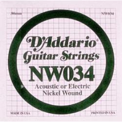 Elektromos gitárhúr D'Addario NW034
