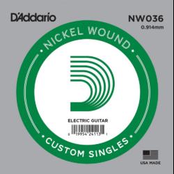 Elektromos gitárhúr D'Addario 0,36