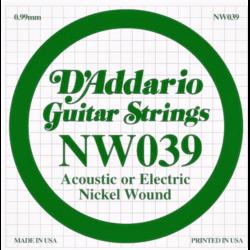Elektromos gitárhúr D'Addario darab NW039