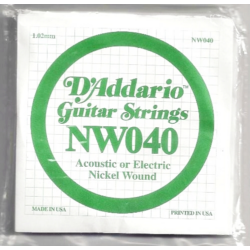 Elektromos gitárhúr D'Addario NW040
