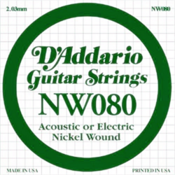 Elektromos gitárhúr D'Addario darab NW0,80