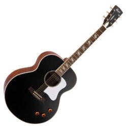 Cort akusztikus gitár elektronikával, matt fekete vintage