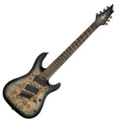 Cort 7-húros el.gitár, Multi Scale, csilllagpor fekete