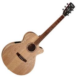 Cort akusztikus gitár EQ-val, Ash Burl, matt natúr