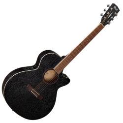 Cort akusztikus gitár EQ-val, Ash Burl, fekete