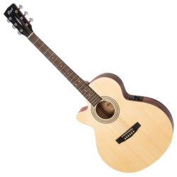 Cort akusztikus gitár EQ-val, balkezes, Open Pore natúr
