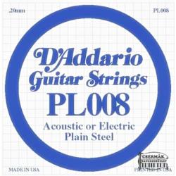 Elektromos gitárhúr D'Addario darab PL008