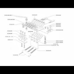 Floyd Rose alkatrész Schaller nyereg rögzítő csavar