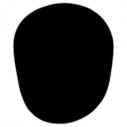 Mikrofon szivacs fekete