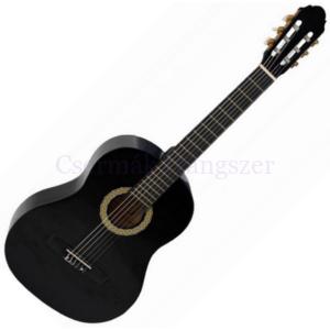 Klasszikus gitár 4/4 Toledo Primera fekete, induló készlet